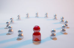 Board Meeting. Aluminum tiny people in emergency meeting Royalty Free Stock Photos