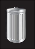 Aluminum trash bin or can Stock Photography
