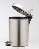 Aluminum trash can Stock Photos