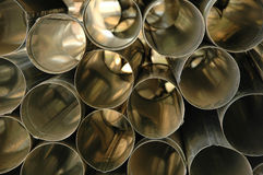 Aluminum tubes Stock Photos