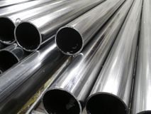 Aluminum tubes Stock Photo