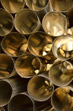 Aluminum tubes. Ideal as background Stock Images