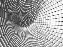 Aluminum tunnel abstract background. 3d illustration Royalty Free Stock Photography