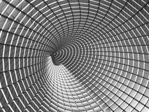 Aluminum tunnel abstract background Royalty Free Stock Image