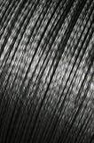 Aluminum twist wire. Aluminum wire on big spool Stock Image