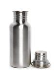 Aluminum vattentillbringare med locket arkivfoton