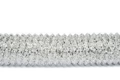 Aluminum veltilation pipes. Pleated aluminum veltilation pipes isolated on white stock image