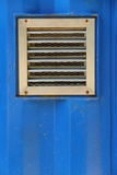 Aluminum ventilation on blue container Royalty Free Stock Photos