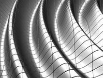 Aluminum wave shape background. With reflection 3d illustration Stock Illustration