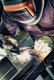 Aluminum welding Stock Photo