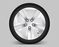 Aluminum wheel -  illustration Royalty Free Stock Image