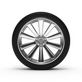 Aluminum wheel with tires Royalty Free Stock Photography