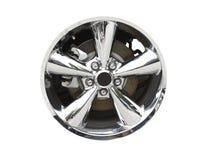 Aluminum wheel on white Stock Photos