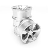 Aluminum wheels Royalty Free Stock Image
