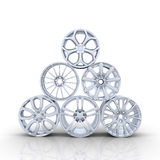 Aluminum wheels Stock Images