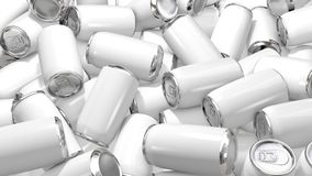 Aluminum white Can on white background. 3d rendering stock photos