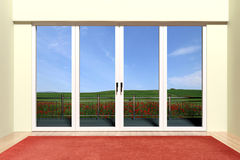 Aluminum window with view Stock Images