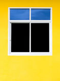 Aluminum windows with colorful walls royalty free stock images