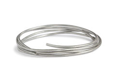 Aluminum wire Royalty Free Stock Photo