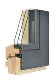 Aluminum/wooden window profile Stock Images