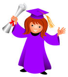 Alumna. A graduate with her diploma Royalty Free Stock Photography