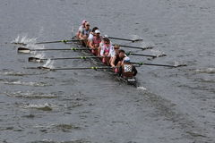 Alumni of Brown University races in the Head of Charles Regatta Stock Photos