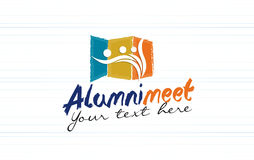 Alumni meet logo design Royalty Free Stock Images