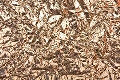 Alumínio abstrato folha enrugada Fotos de Stock