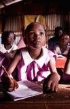 Alumno en Uganda foto de archivo