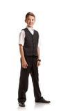 Alumno en uniforme escolar Imagen de archivo libre de regalías