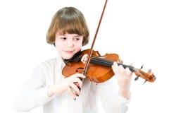 Alumno que toca el violín Imagen de archivo