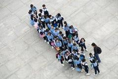 Alumnos en Hong Kong Fotografía de archivo libre de regalías
