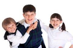 Alumnos felices imagen de archivo libre de regalías