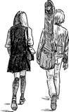 Alumnos que caminan libre illustration