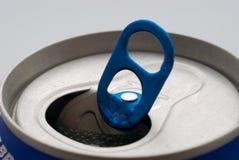 Alumunium can. A blue alumunium can top Royalty Free Stock Photography