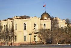 Alun-Förfyrkant i Bishkek kyrgyzstan Fotografering för Bildbyråer