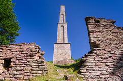 Alun factory ruins on Oland island Royalty Free Stock Images