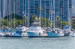 Alun Wai Boat Harbor Royaltyfri Fotografi