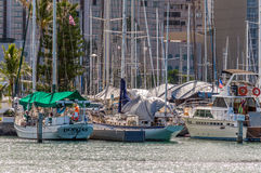 Alun Wai Boat Harbor Royaltyfria Bilder