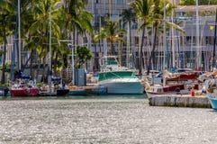 Alun Wai Boat Harbor Arkivfoton