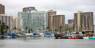 Alun Wai Boat Harbor, Waikiki Royaltyfri Foto
