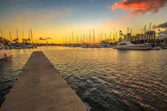 Alun Wai Harbor Honolulu Royaltyfri Fotografi