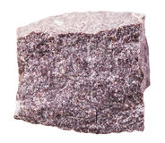 Aluniet minerale steen die op wit wordt geïsoleerd Royalty-vrije Stock Afbeelding