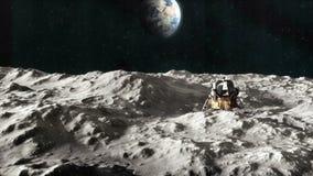 Alunizaje de Apolo 11 blanco y negro ilustración del vector