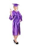Aluno diplomado fêmea que guarda um diploma Imagem de Stock Royalty Free