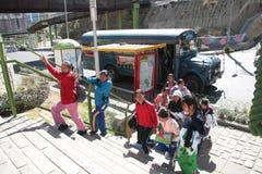 Alunos bolivianos imagem de stock