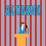 Alunos do texto da escrita Celebração graduada velha da academia da faculdade do recolhimento do pós-graduado do alume do signifi ilustração do vetor