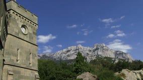 1828 1846 alupka budujących Crimea budujący nożny ogólny gubernatora krai mikhail gór novorossiysky pałac książe siedziby semyono zdjęcie wideo