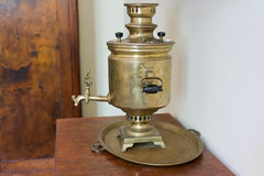 ALUPKA, CRIMEA, RUSSIA - JUNE 08.2015: Tula samovar at the exposition Stock Images