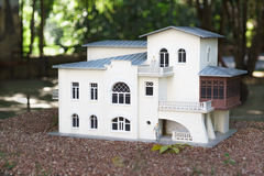 ALUSHTA, CRIMEA, RUSSIA-SEPTEMBER 19.2015: the layout of the house-Museum of Anton Chekhov in Yalta in the Park Stock Images